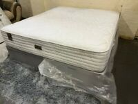 GREY SUPER KING SIZE OTTOMAN BED + ECO LATEX ORTHOPEDIC MATTRESS EX DISPLAY RPP 1499 FREE DELIVERY