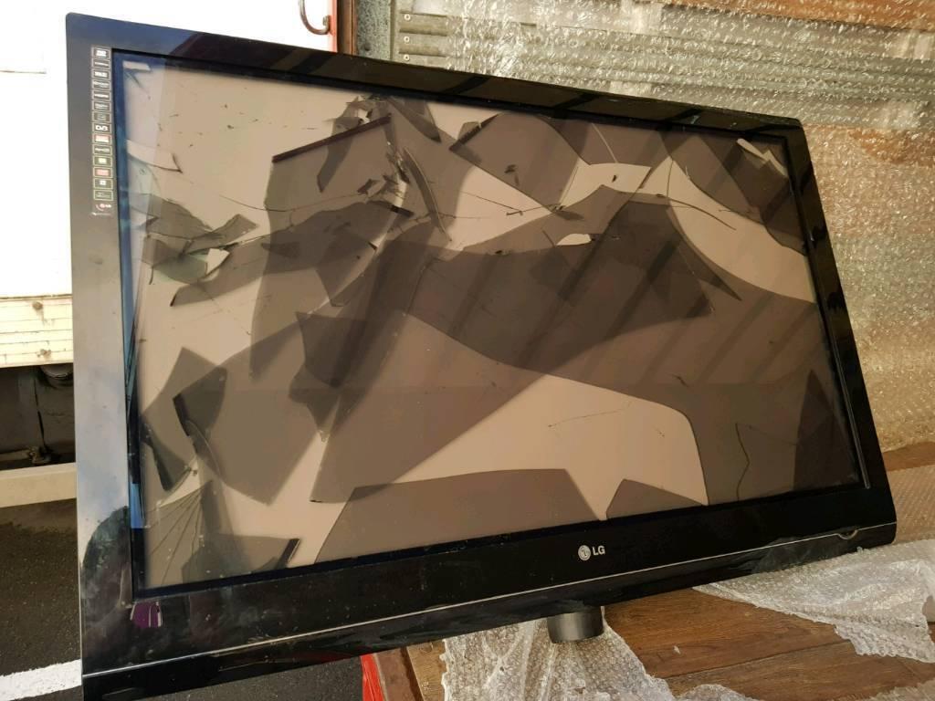lg tv 2008. faulty damaged screen 50 \u201c plasma tv 2008 model lg pg3000 ono lg