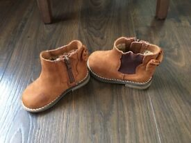 Girls tan boots from next