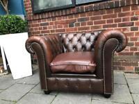 Vintage brown chesterfield club chair
