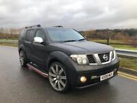 2008 NISSAN PATHFINDER 2.5 DCI AVENTURA 4x4 6 SPEED MANUAL FULLY LOADED LEATHERS SAT NAV TV NAVARA