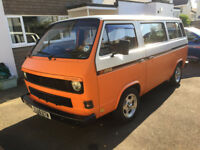 VW T25 / T3 Campervan - 1984 (early) 1.9df petrol with retro awning