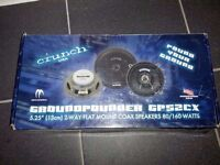 New in box Pair of Rear Speakers 80 W Crunch Ground Pounder GP52CX Made in USA for car