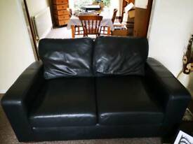 2 x 2 seater leather sofas plus foot stool
