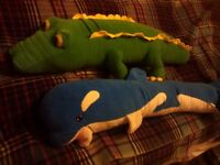 2 fun animal draught excluders, vgc
