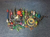 Various Toy Animals. 49 items in total (Dinosaurs, Snakes, Lizards, etc).