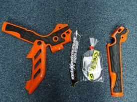 Acerbis Frame Cover X-Grip KTM SX SXF 125/250/350/450 11-15 EXC 12-15 Guards OR