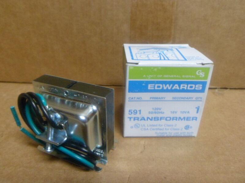 EDWARDS SIGNALING 591 Class 2 Transformer 16VAC 10 VA 1 PH 120V NEW