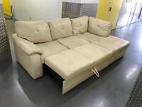 Leather L shape sofa with storage, Free delivery