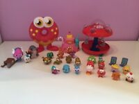 Moshi Monster toys including 25 figures, spaceship, donut, mini house and 8 mini figures toys