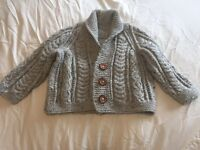 Hand Knitted Boys Cardigan age 2-3years