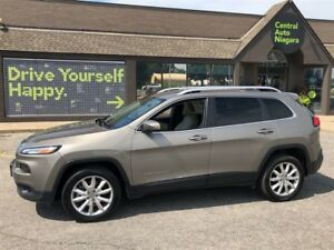 2017 Jeep Cherokee Limited / NAVIGATION / LEATHER / BACK UP CAME