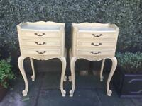 Louis Style Bedside Tables x2