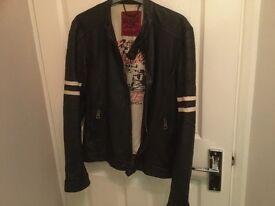 River island leather jacket.