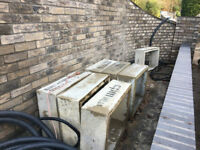 Concrete chamber sections 600mm x 450mm x 220mm New.