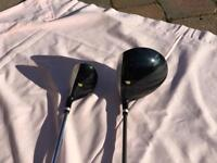 Golden Bear graphite driver with cover and matching hybrid