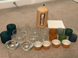 21 tealight holders and a candle plate