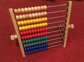 IKEA MULA wooden abacus toy