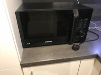 Samsung Black Microwave - Immaculate condition