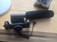 Rode VideoMic for Sale (Shotgun microphone for DSLRs and Camcorders; rechargeable 9v battery incl.)