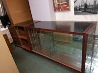 glass fronted counter display unit