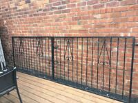 12ft Wide Wrought Iron / Steel Driveway Gates