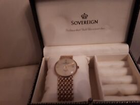 9ct gold mens sovereign watch