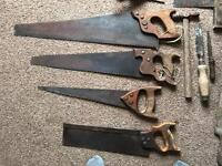 Vintage/antique saw and tools