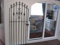 garden steel gate wrought iron