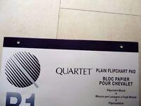 Quartet B1 Plain Flipchart Pad 40 Sheets 485 x 585 mm Punched at Head pack of 3
