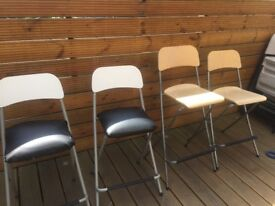 4 Bar Stools - Tall (2 with fabric covers)