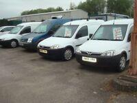 09 Vauxhall & Small ford vans from £1150 NO VAT eg 08 DIESEL 1.4FIESTA full MOT