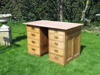 2 Sets of Antique Drawers - Desk - (if you add a piece of wood like our pic )