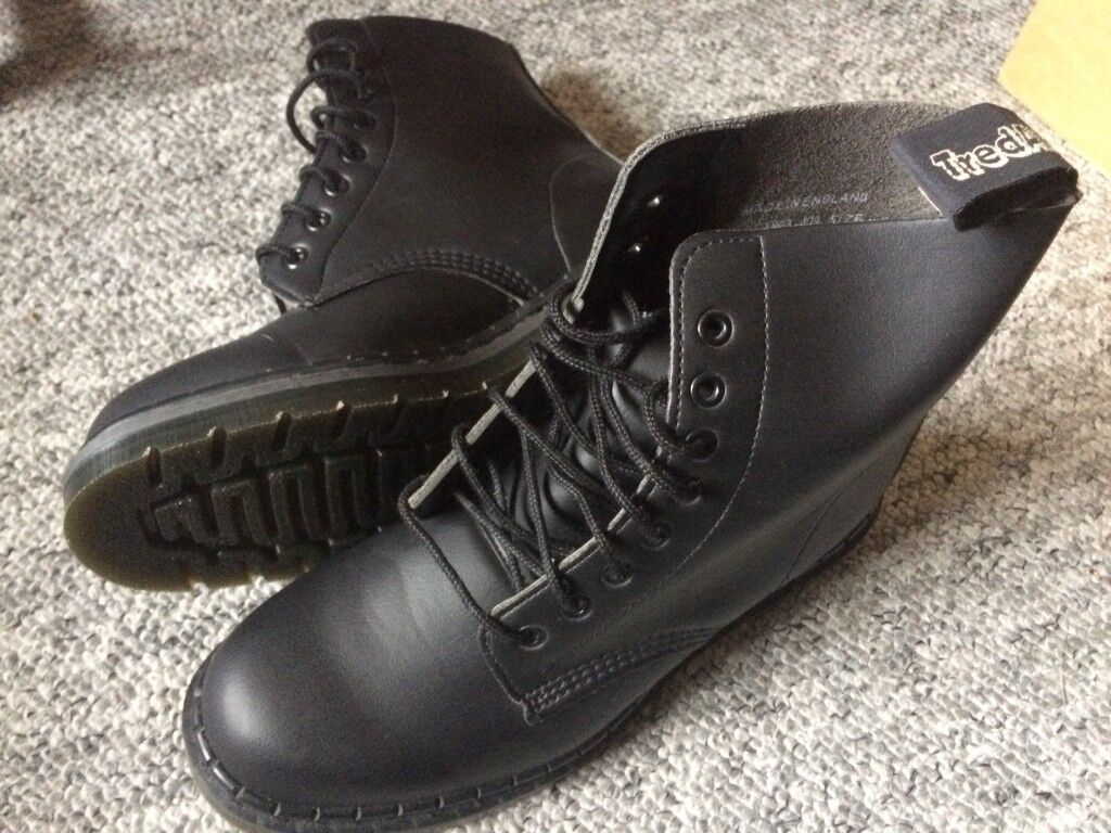 TredAir size 6 vegetarian Dr. Martens-style boots for sale, unworn, Llanishen, Cardiff