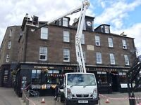 CHERRY PICKER/HIGH LEVEL ACCESS WORK INCLUDES MAINTENANCE, DECORATION, REPAIRS, PHOTOGRAPHY