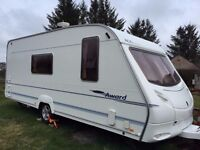4 berth Ace Award Transtar touring caravan for sale.Excellent condition