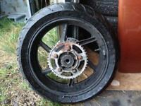 Honda CBR 600 F3 rear wheel with good tyre