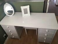 White vanity dressing table