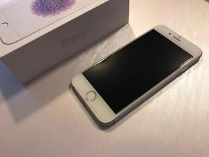 Bell or Virgin iPhone 6 128GB Silver - 10/10 w/Glass Protector - Guaranteed Activation + No Blacklist