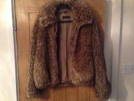 Ladies miss selfridge fur coat