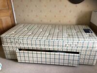 Myers Single divan bed with drawer