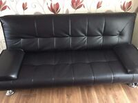Black Sofa bed for sale from smoke free home