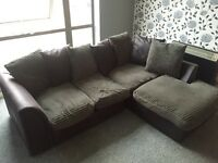 Corner sofa approx 9 months old. Can deliver