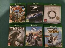 6 Xbox one games cheap mint condition ONO