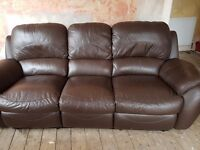 Brown leather sofa free on collection