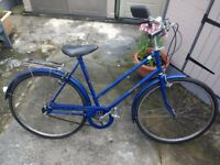 Blue Raleigh Vintage Adult Ladies bike