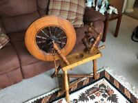 Antique Vintage Working Spinning Wheel