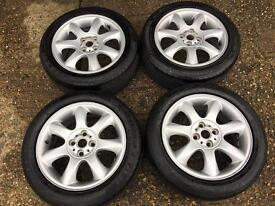 MINI COOPER GENUINE FACTORY ALLOY WHEELS WITH RUNFLAT TYRES