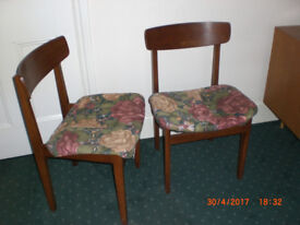 Pair of upright chairs - living or bedroom