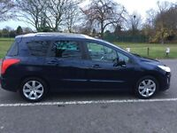 2009 Peugeot 308 SW 1.6 HDi FAP SE 5dr 10 Stamps In Book @07445775115
